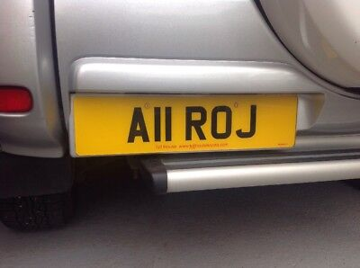 Personal registration A11 ROJ private plate cherished number
