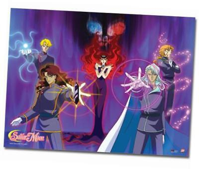 sailormoon beryl's group wall scroll, 33 by 44-inch