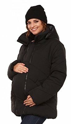 Happy Mama. Womens Maternity Padded Jacket Hood Carrier Removable Insert. 075p