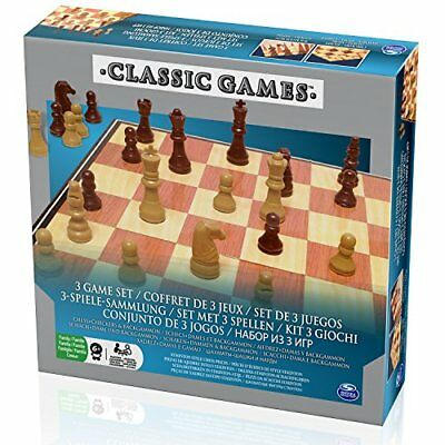 Spinmaster 6033198 ChessCheckers and Backgammon Game