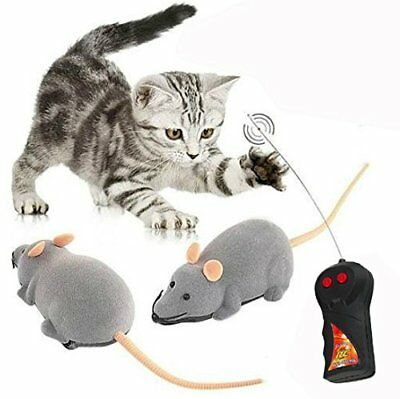 Cisixin Remote Control Electronic RC Wireless Rat Mouse Toy for Cat Dog Pet Nove
