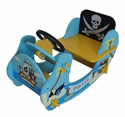 Bebe Style Childrens Pirate Wooden Rocker Ride On Boat,  69 x 34 x 44 cm
