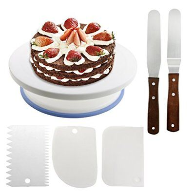 Wisfox Cake Plate Rotating Cake Stand Cake Turntable Cake Decorating Turntable w