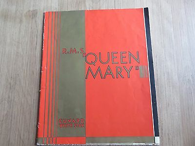 Cunard White Star QUEEN MARY pamphlet