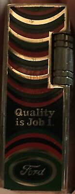 As-Is  Vintage Ford Lighter Korea Antique Multi-Color Display Only  As-Is Hdsa