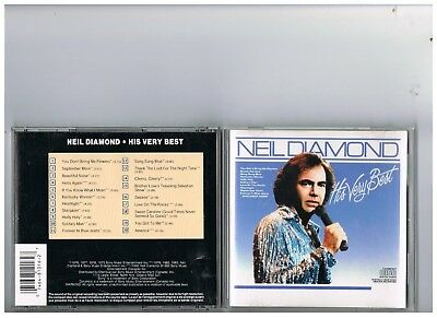 Neil Diamond Cd..his Very Best..the Greatest Hits Of