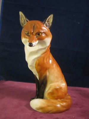 Royal Worcester Seated Fox 19cm Tall   RW  2993  Doris Lindner Sadly AF