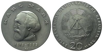 20 Mark Ddr 1968 Marx