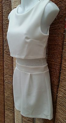 BOOHOO BNWT Ivory Lace Double Layer Playsuit Size 10
