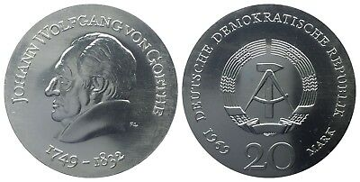 20 Mark Ddr 1969 Goethe