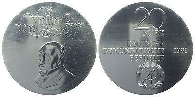20 Mark Ddr 1981 Vom Stein