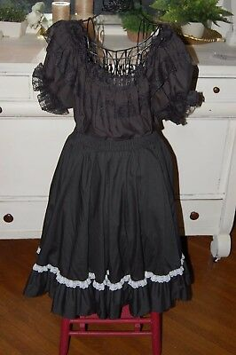 Ladies Square Up Malco Modes Square Dance Outfit Sz Xl