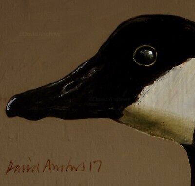 CANADA GOOSE : ORIGINAL OIL PAINTING : Poultry Duck Bird Art by David Andrews