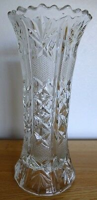 Vintage Cut Glass Vase