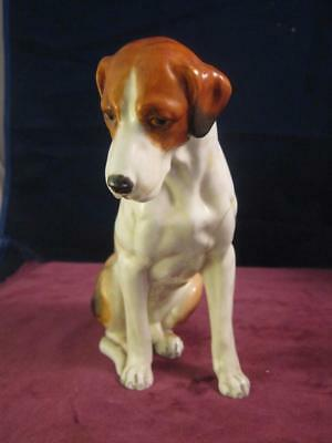 Royal Worcester Seated Fox Hound  17cm Tall   RW  2994  Doris Lindner Sadly AF