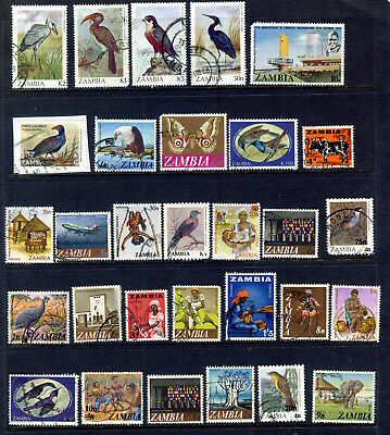 Zambia Collection 'd' : 30 Stamps Most Fine Used