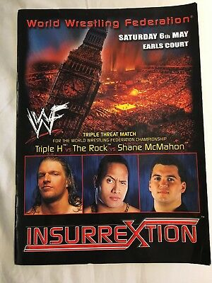 WWE WWF Insurrextion Programme Earls Court 2000 The Rock Triple H