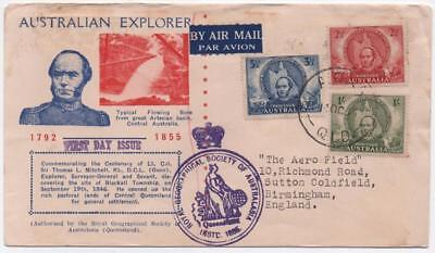 AUSTRALIA: 1946 Examples on Airmail First Day Cover to Birmingham (11608)