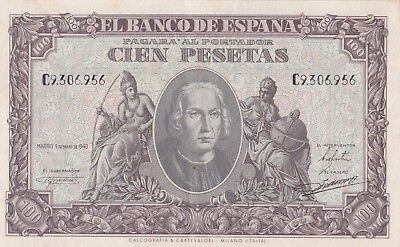 Billete De 100 Pesetas 1940, Mbc