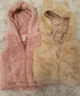 girls fur gillet age 3-4