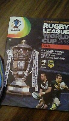 Rugby league world cup final programme 2013