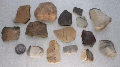 great collection endscraper/lug/ceramic and radiolite european Neolithic