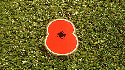 england english remembrance iron on heat press adult sized soccer poppy patch