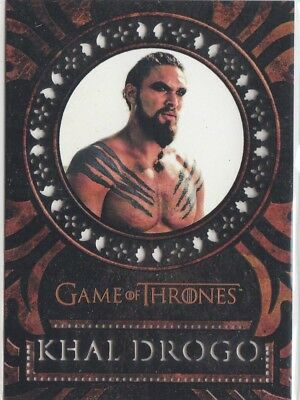 Game Of Thrones Valyrian Steel - Laser Cut Chase Card L15 Khal Drogo