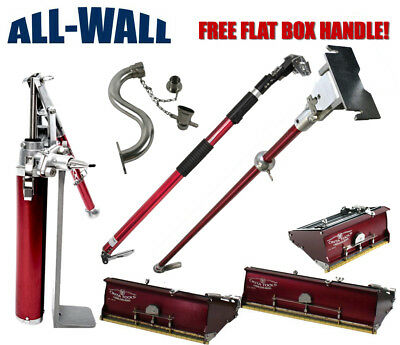 "Cinta 7/10/12 Drywall Flat Box Set: Pump, Extender & 42"" Handles, Hi Box Filler"