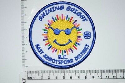 Girl Guides Canada East Abbotsford District BC Crest Badge Patch GGC Discontinue