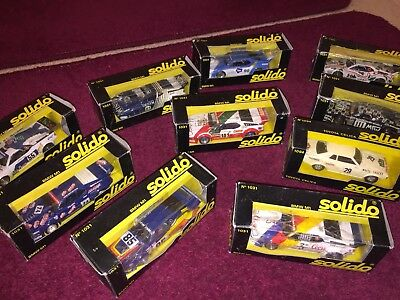 x10 Mixed 1:43 Classic Solido Model Racing Cars! ... BMW M1 / Toyota RARE