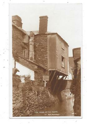 Superb Real Photographic Postcard Of The House On The Props Polperro Cornwall