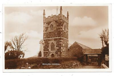 Superb Real Photographic Postcard Of Mullion Church Cornwall Posted 1945