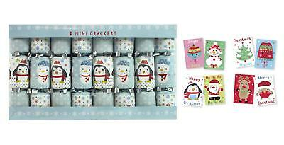Box Of 8 Mini Christmas Crackers Childs Tree Table Dinner