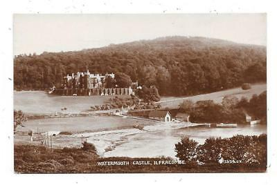Real Photographic Postcard Of Watermouth Castle Ilfracombe Devon Posted 1933