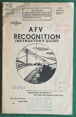 Army Fighting Vehicle Recognition Guide 1947 Tanks