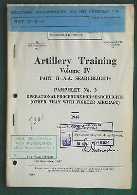 Artillery Training Anti-Aircraft Searchlights 1943