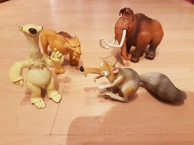 Collection of Ice Age figures and toys