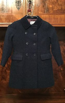 1 Vintage Emily Jane Harris HARRODS Tweed coat with velvet collar,4-6 years