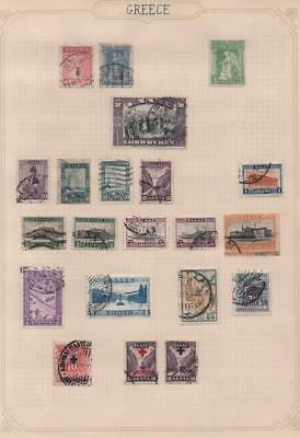 GREECE: Used Examples - Ex-Old Time Collection - Album Page (11431)