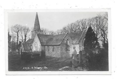 Super Real Photographic Postcard Of Church St.hilary Village Penzance Cornwall