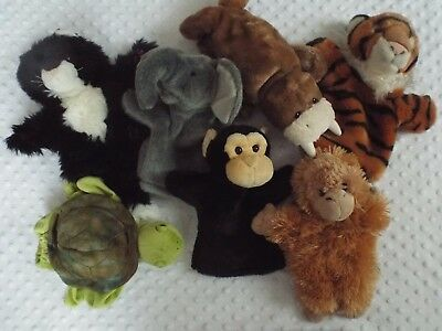 Set of Animal Hand/Glove Puppets, 7 x Puppets, Un-Used