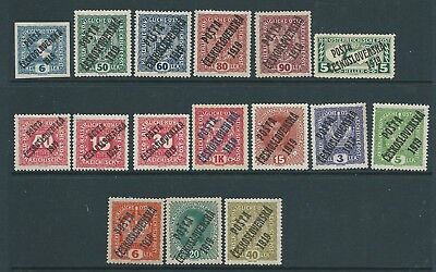 Czechoslovakia 1919 Overprints On Austria Mh Fresh Looking!