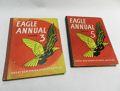 Eagle Comic Annual #3 and #5 (1950s) VG