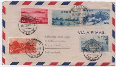 JAPAN: 1954 Examples on Airmail Cover to Zurich - Imperial Hotel Tokya (11673)