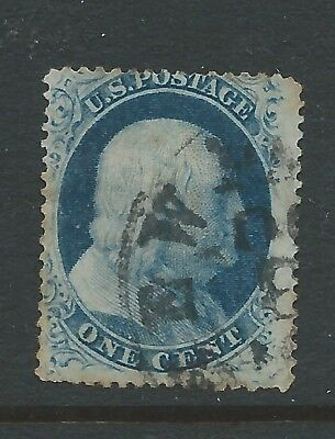 USA 1857 1c USED SEE  BOTH SCANS FOR CONDITION