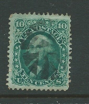 USA 1861 10c USED SEE  BOTH SCANS FOR CONDITION