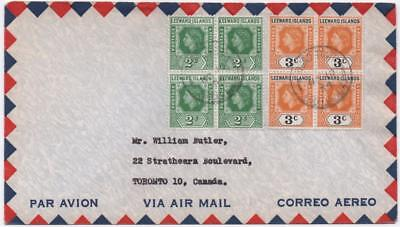 LEEWARD ISLANDS: 1974 Elizabeth II Examples on Airmail Cover to Canada (11635)