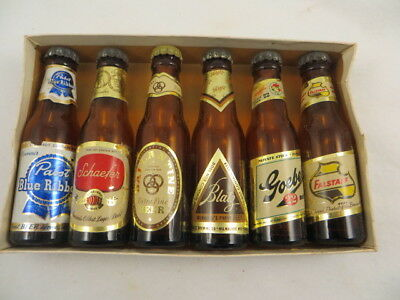 Six Miniature Beer Bottles Of Famous Brands In The Original Box