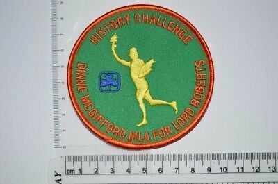 Canadian Girl Guides History Challenge Crest Badge Patch Scouts GGC